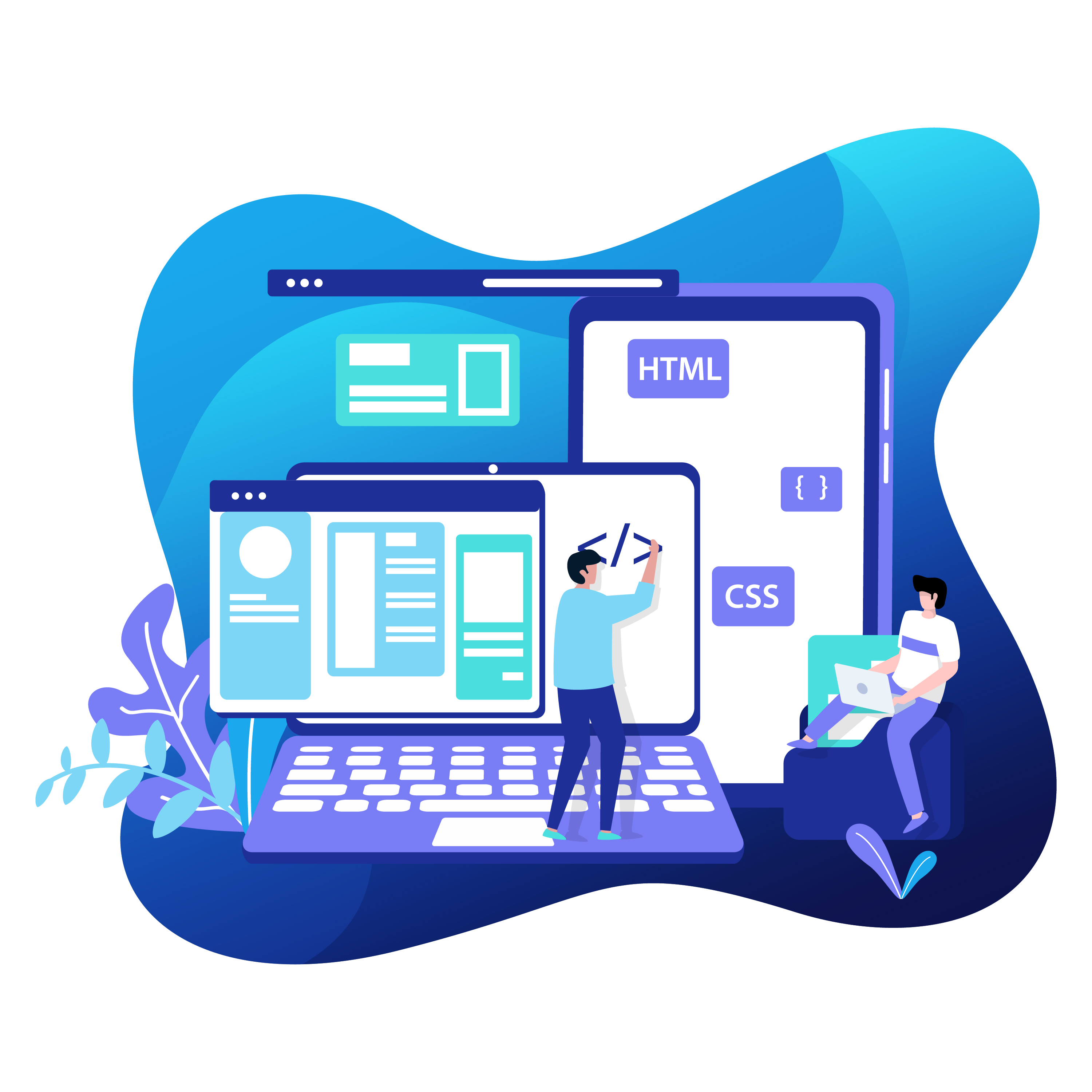 web development illustration service